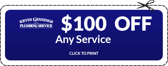 $100 off on any Plumbing Services by Kevin Ginnings Plumbing